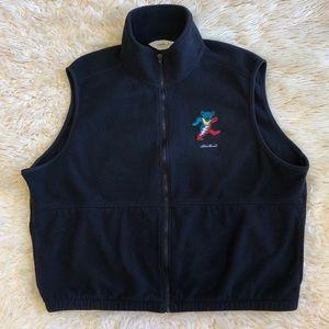 Black Grateful Dead Eddie Bauer Fleece Vest